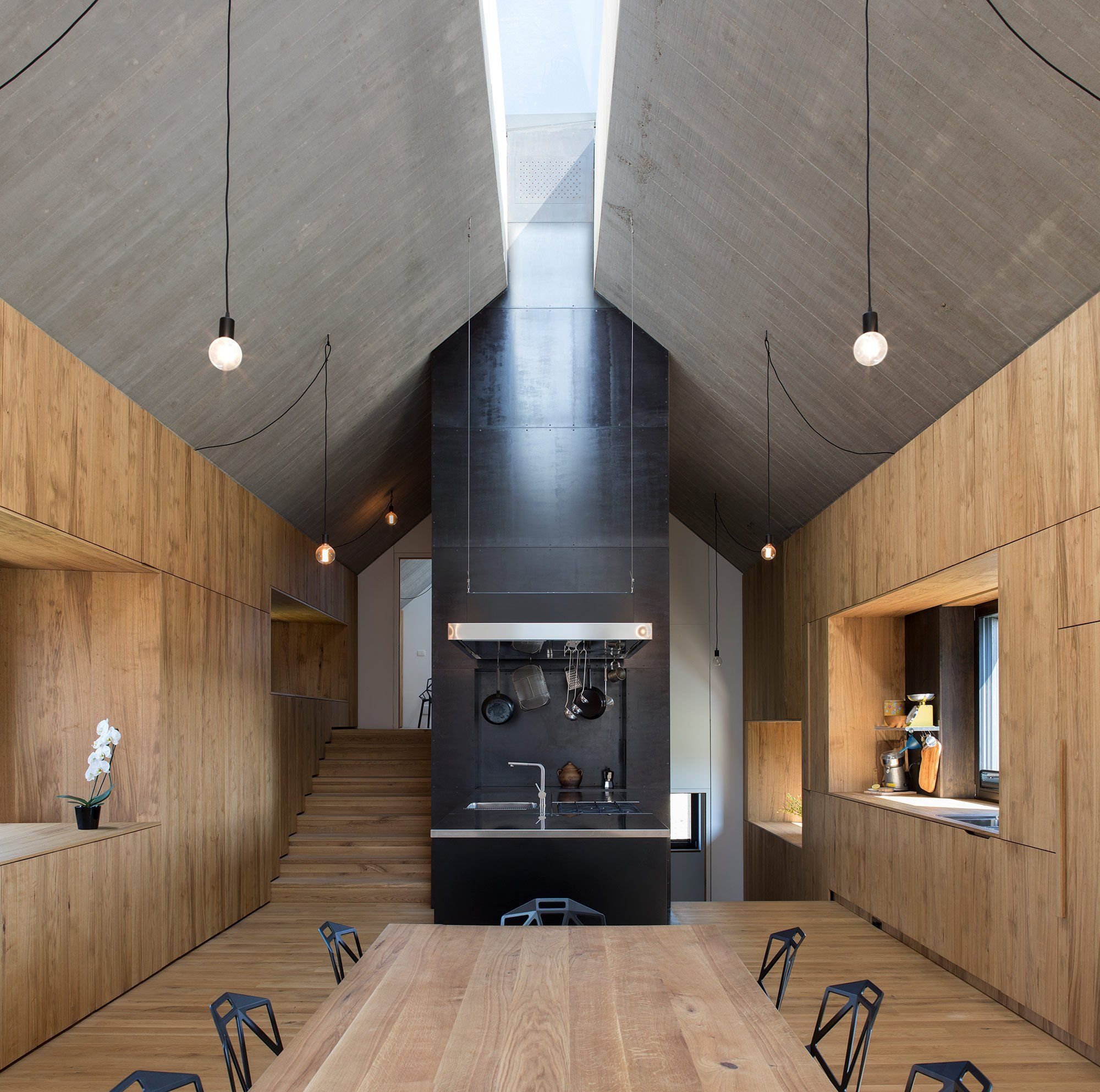 Chimney house by dekleva gregoric architects gessato blog
