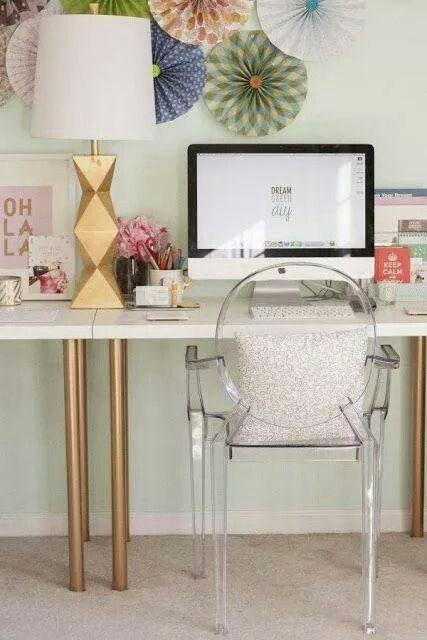 Office. Love kartell chair.