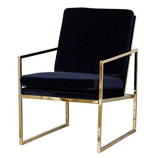 Lounge Sessel In Dunkelblau Blau Samt Stuhl Kupfer Blick Messing