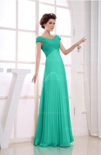 3e402c04c6 Ceramic Casual V-neck Zipper Chiffon Pleated Bridesmaid Dresses