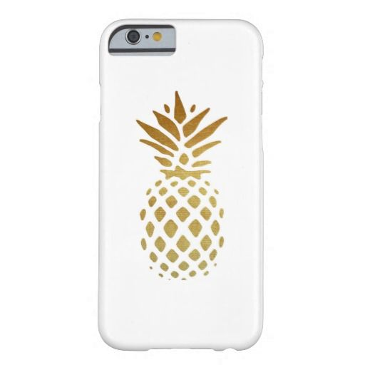 Golden Pineapple, Fruit in Gold Barely There iPhone 6 Case