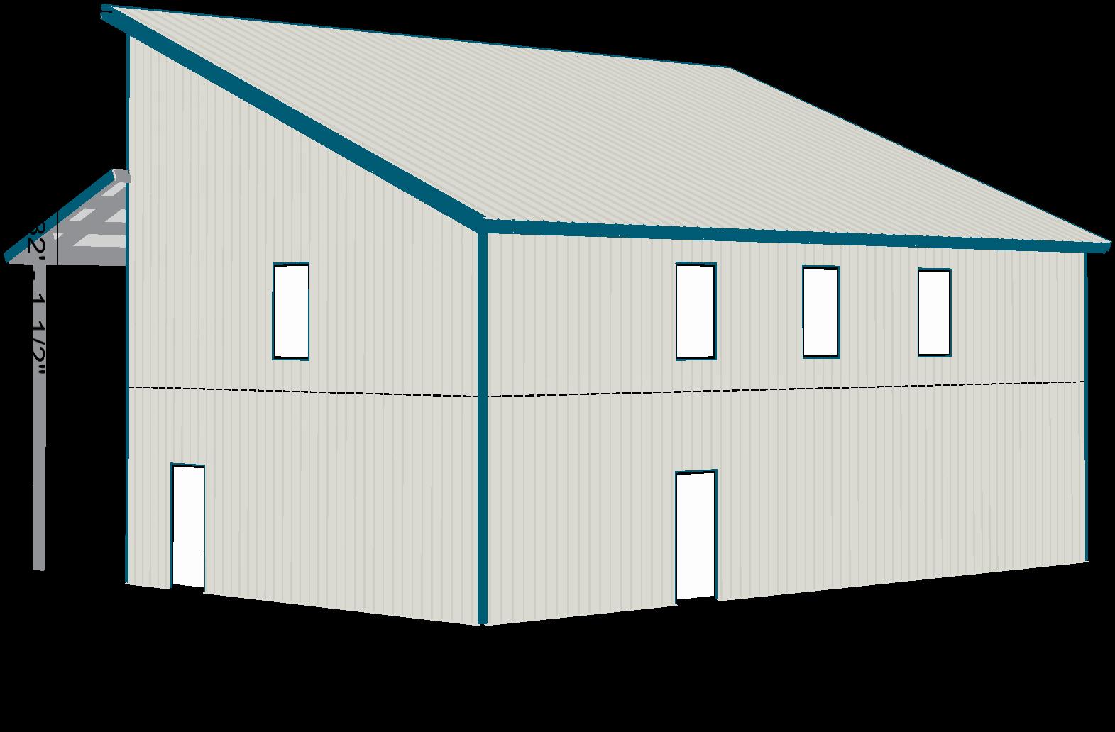 Steel Home Contemporary Shell Kit 2 Floors Single Slope Roof Ebay Steel House 2nd Floor Roof