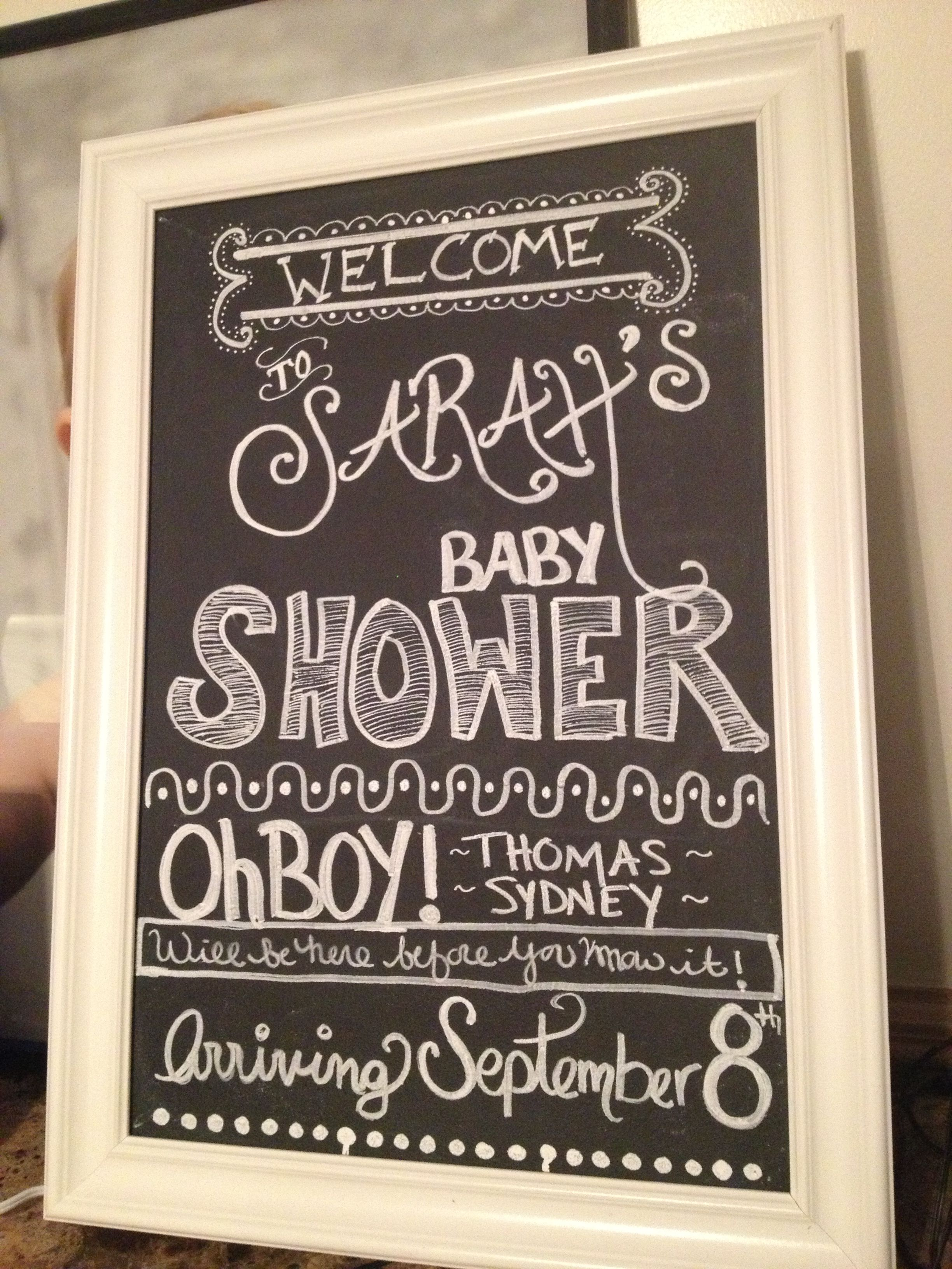 Welcome sign for baby shower | Baby shower | Pinterest ...