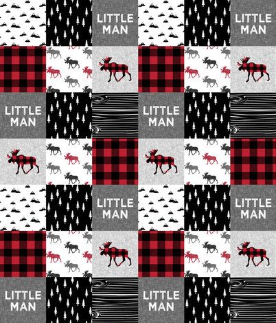 Little Man Moose Patchwork Baby Blanket Or Quilted Comforter Moose Pine Tree Lodge Red Black Buffalo Patchwork Baby Blanket Patchwork Baby Baby Boy Quilts