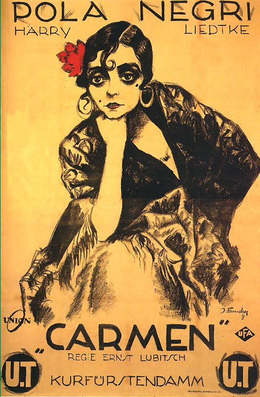 georges BIZET rosabel MORRISON dancing CARMEN vintage poster 24X36 art WOMAN