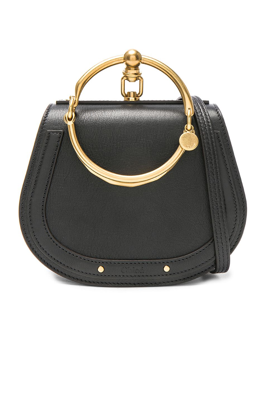 52cae3e04d Image 1 of Chloe Small Nile Bracelet Bag Calfskin & Suede in Black ...
