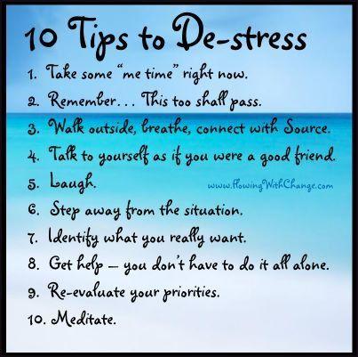 10 tips to de-stress