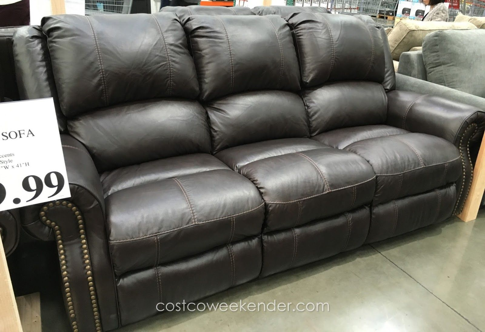 Berkline Leather Reclining Sofa Costco Weekender With Images