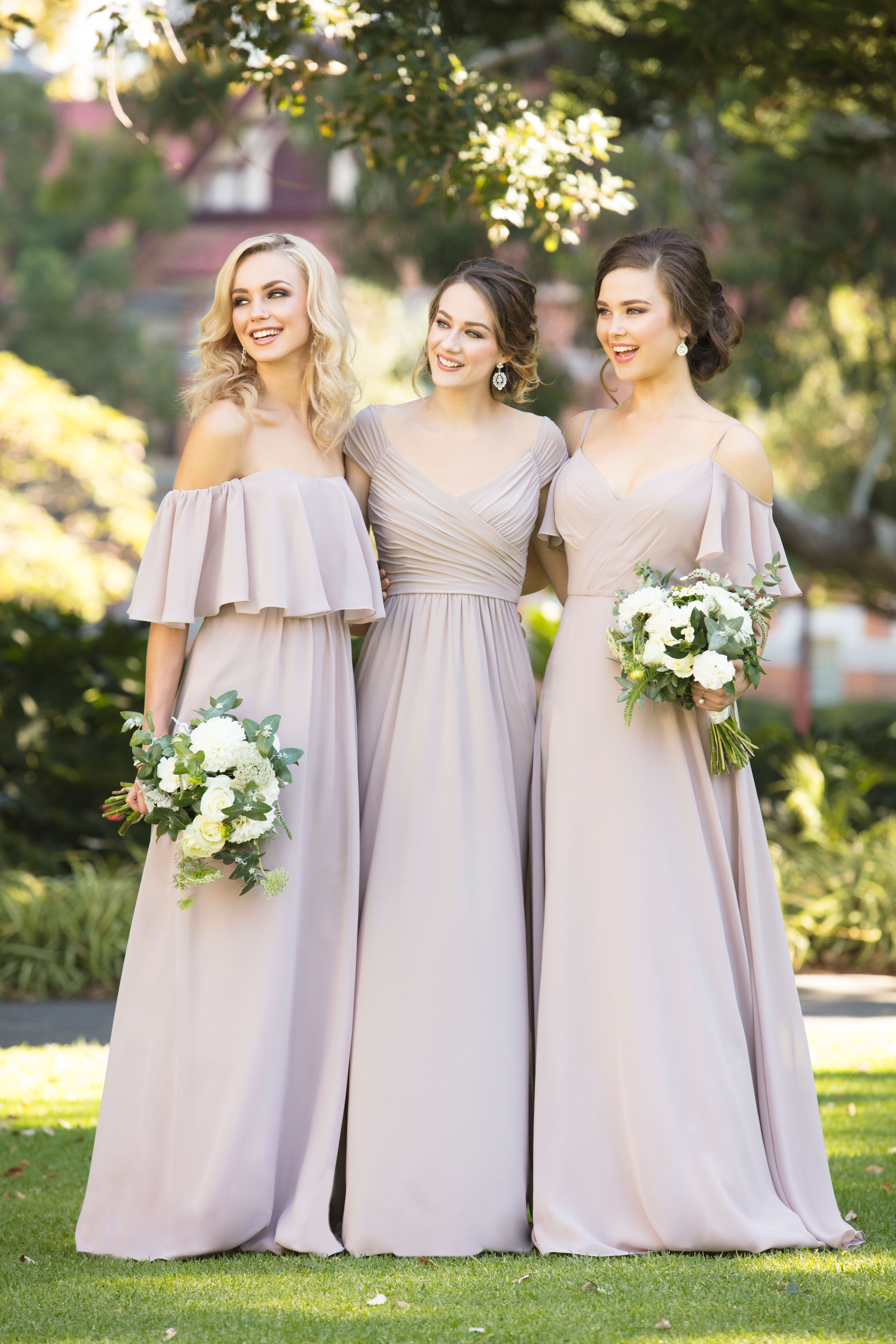 19702e67cf7 Martha Stewart Weddings - Add a touch of romance to your bridesmaids look  with styles 8944