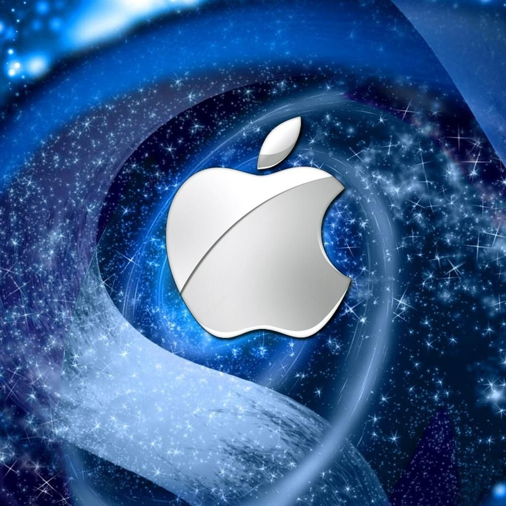 Apple symbol with cool background in 2020 Apple logo