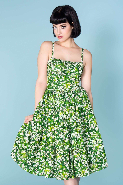 Paris Dress in Daisy Print by Bernie Dexter