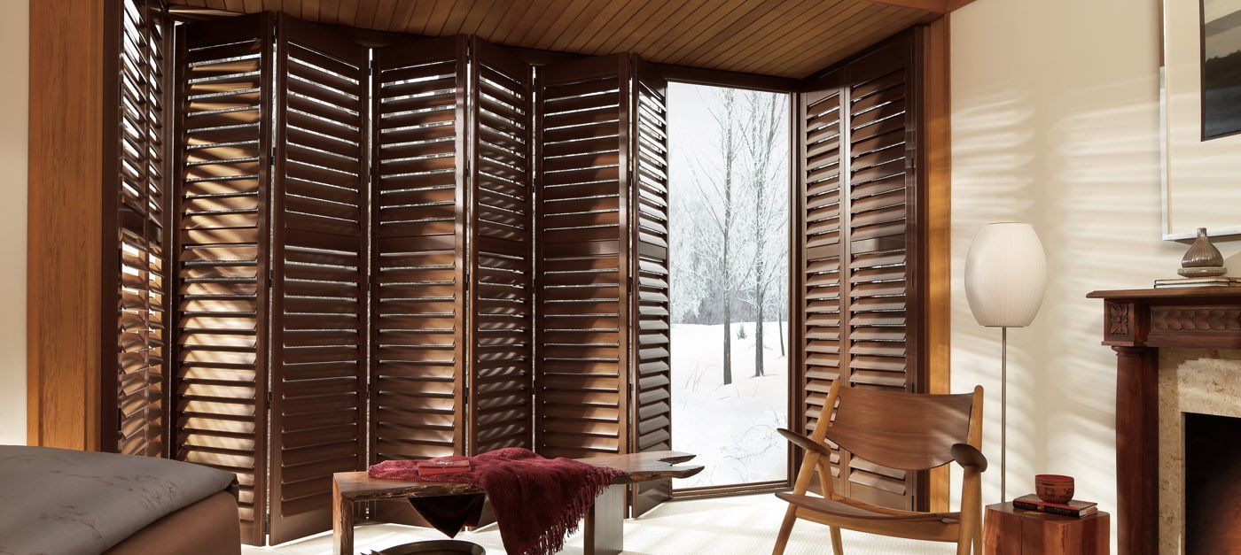"""FAUX WOOD"" PLANTATION SHUTTERS See more Coloradosdesign"