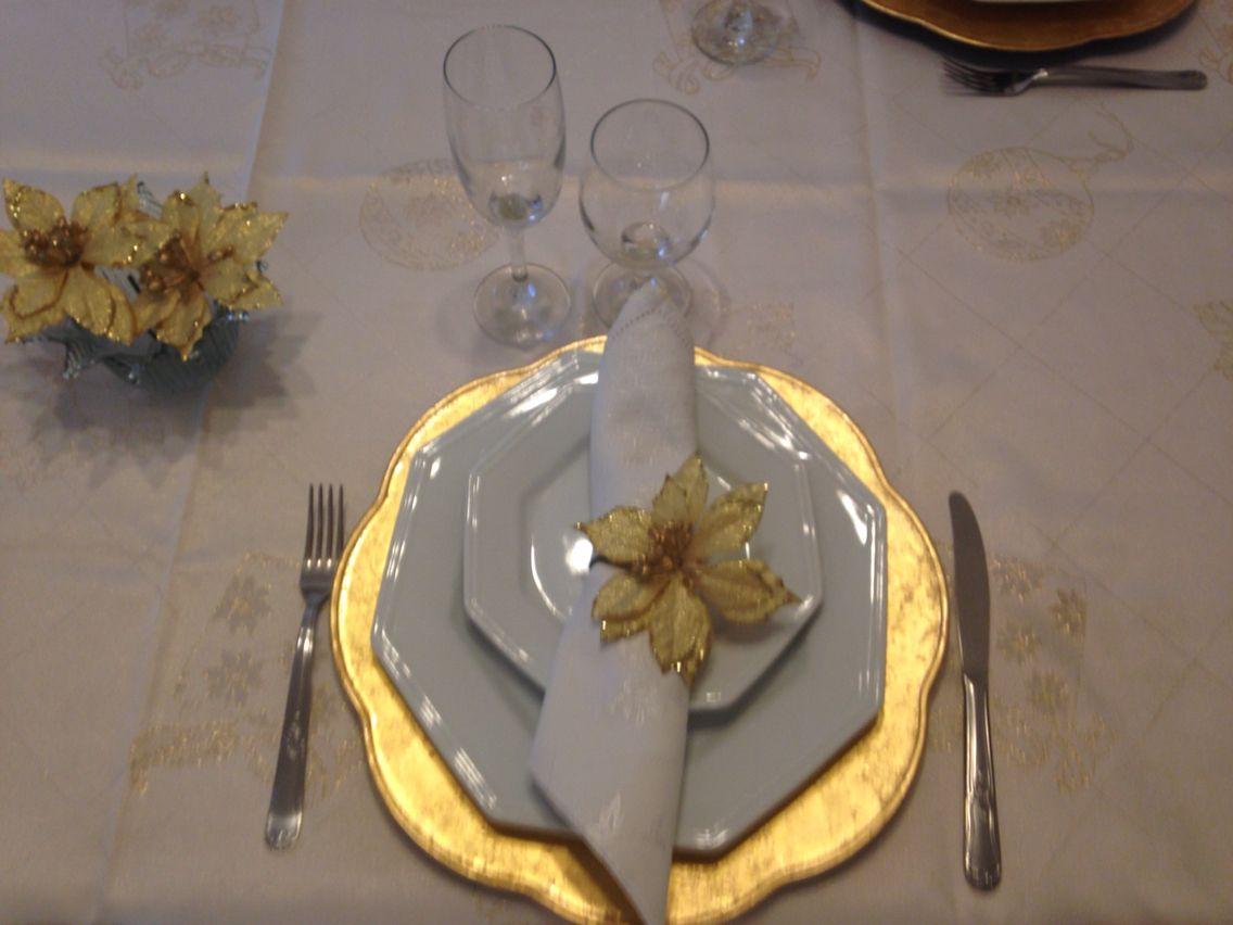 Natal - mesa e porta guardanapos