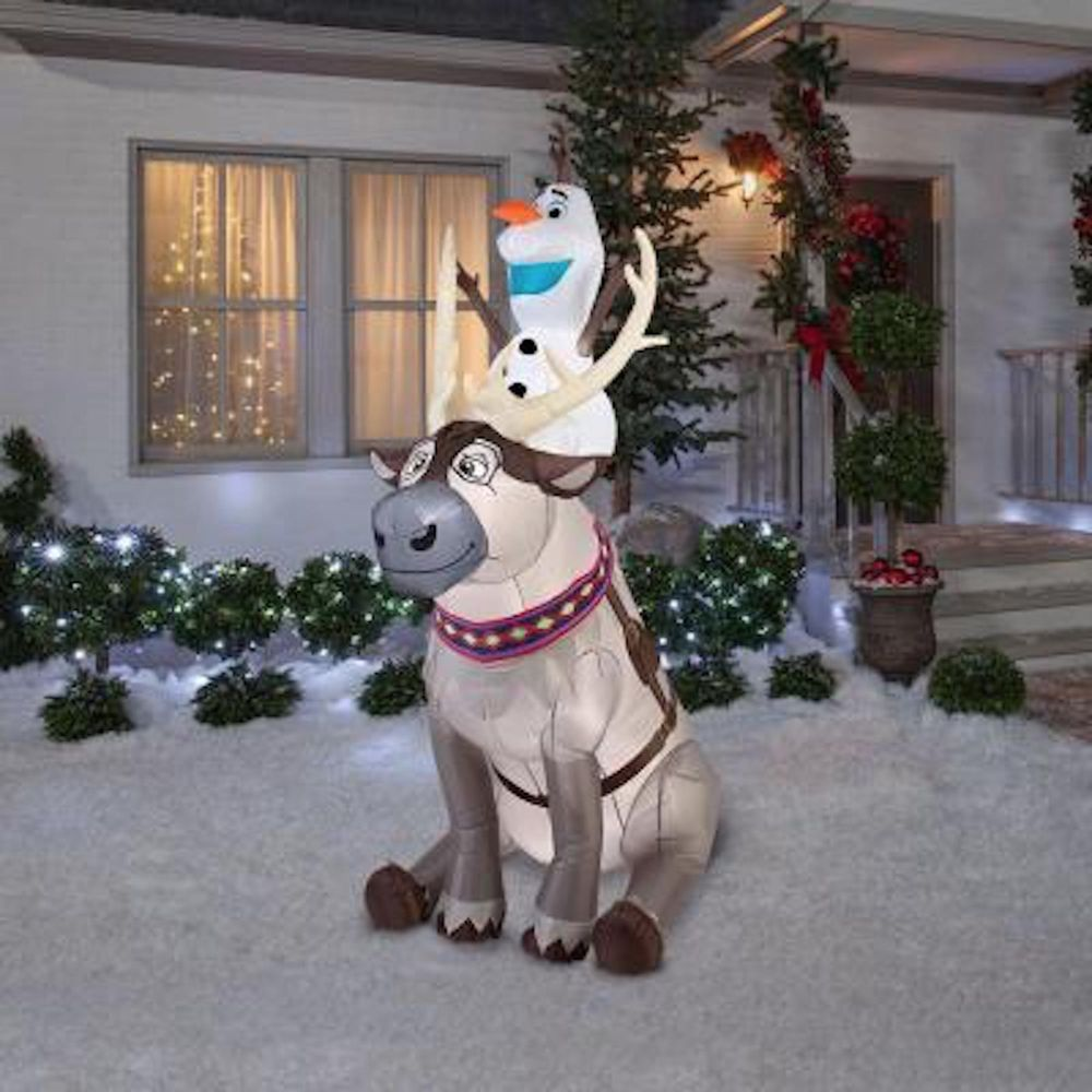 Holiday Inflatables Christmas Decorations For Outside Disney Olaf ...