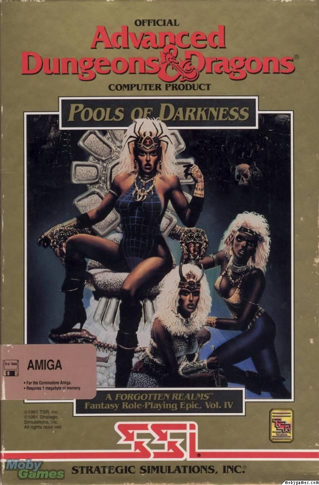 AD&D Box Art - Pools Of Darkness (Amiga) (Front)