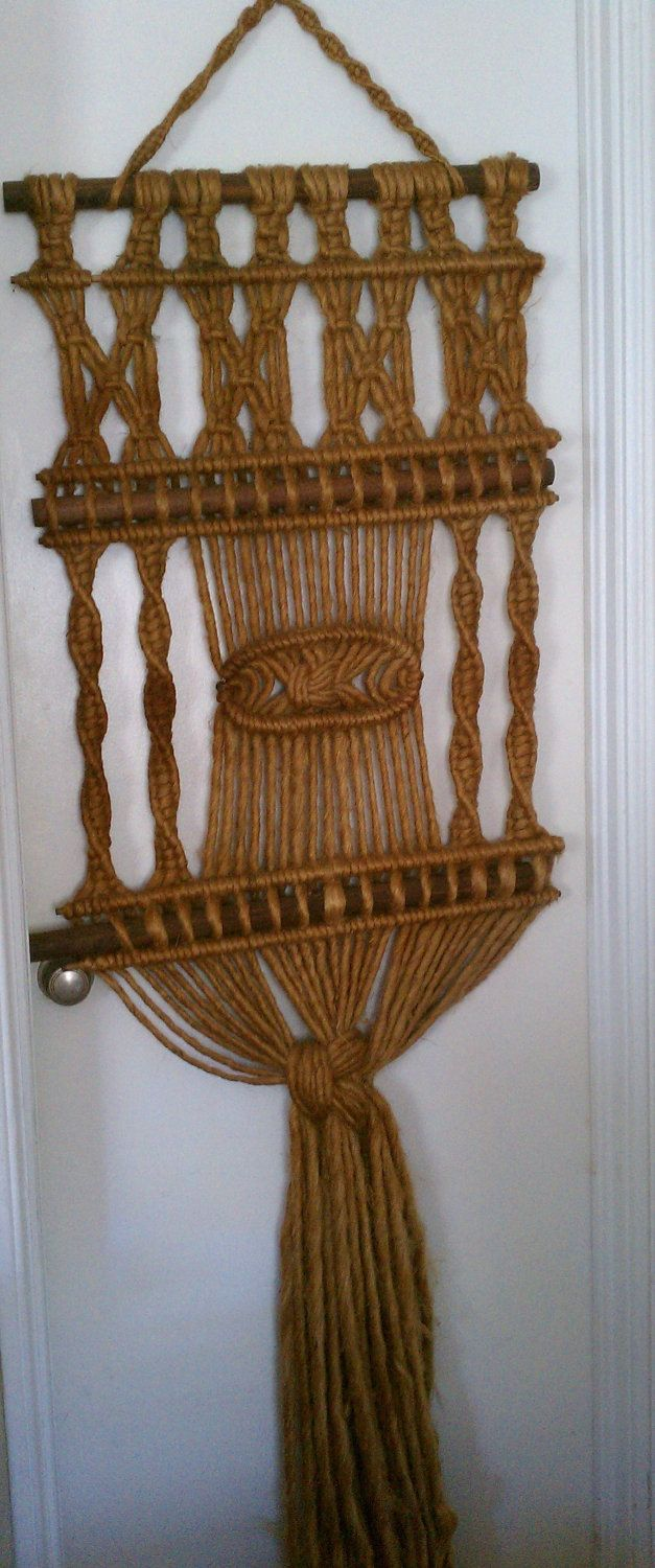 Reserved gorgeous african macrame wall hanging macrame - Tapices de macrame ...