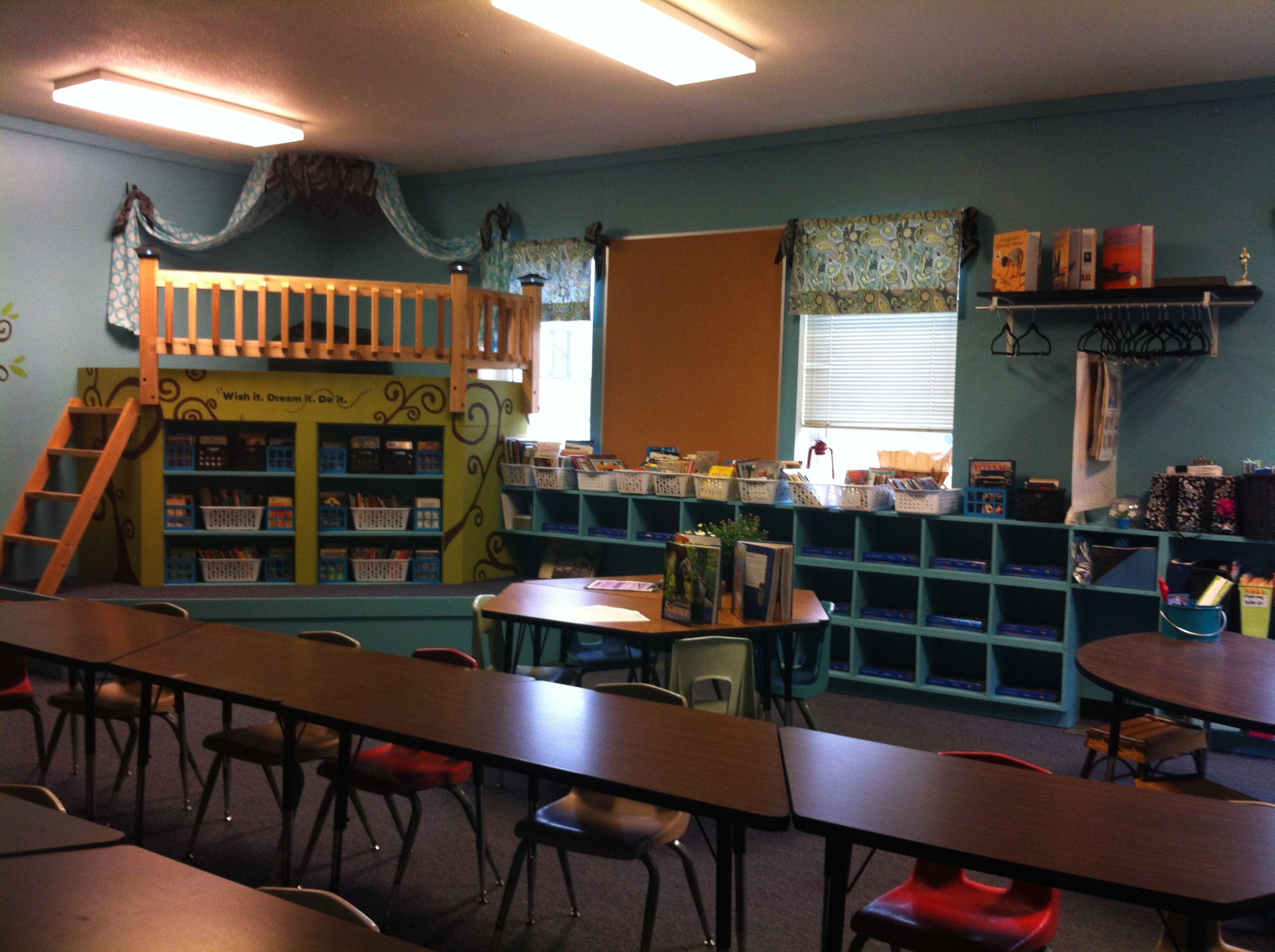 Classroom Loft Ideas : The reading loft my hubby built for classroom love