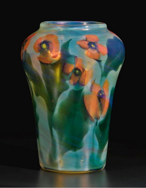 Tiffany Poppy Paperweight Vase Sothebys Lot 207 Tiffany Art