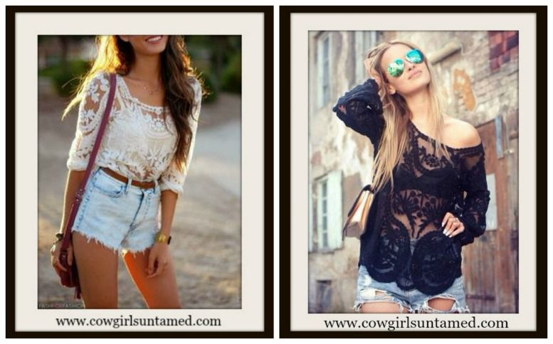 94f68e04d37291 Off White Tan Beige Cream Lace Long Sleeve Crochet Lace Western Cowgirl Gypsy  Top