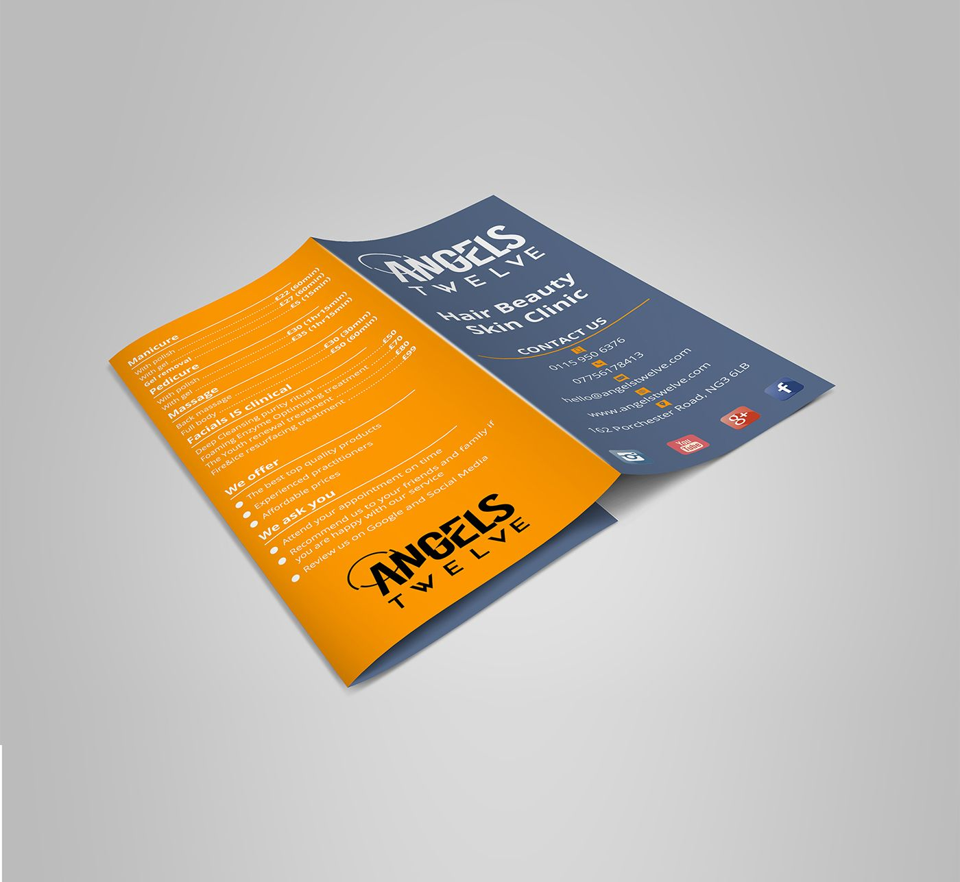 Check Out My Behance Project Angels Twelve TriFold Brochure
