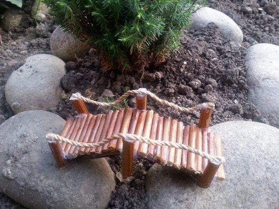 Fairy Garden Bridgefairy bridge fairy by DreamsTreasuress on Etsy