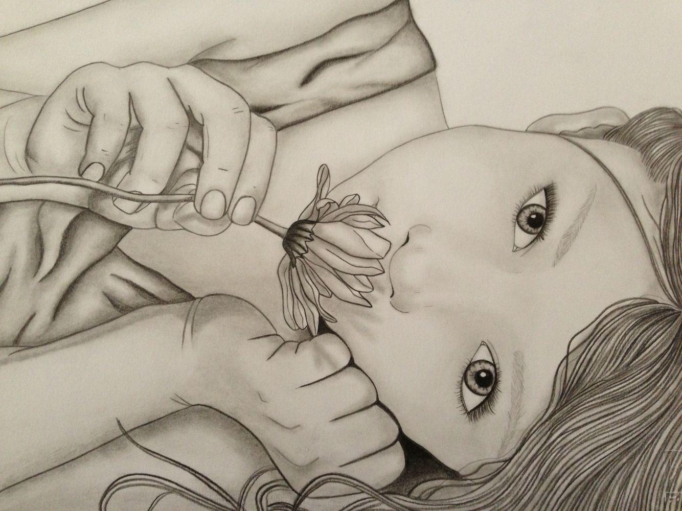 Little girl with flower