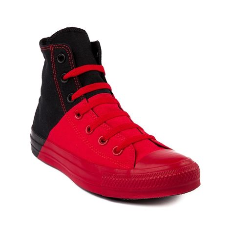 4d25f4433c44 Shop for Converse All Star Splitzie Hi Athletic Shoe in Red Black at  Journeys Shoes.