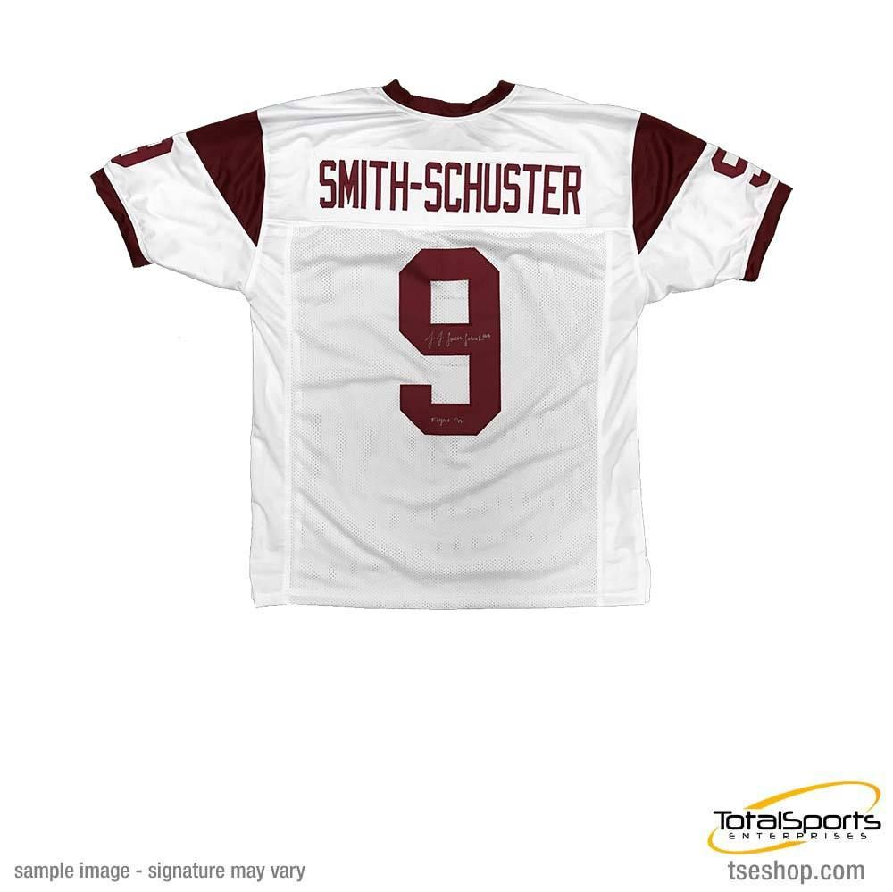 new arrival b62b0 1a511 JuJu Smith-Schuster Signed Custom White College Jersey with ...