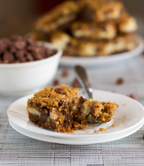 These peanut butter chocolate chip cookie cheesecake bars are just as extreme as they sound. For true dessert lovers!