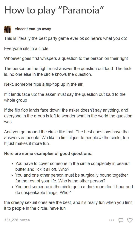Paranoia Questions Adults : paranoia, questions, adults,