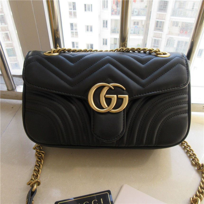 0e542c12ddc5 Gucci Black matelassé chevron leather with a heart  purses  fashion ...