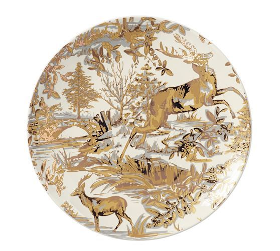 Alpine Toile Salad Plate Set of 4 - Gold  sc 1 st  Pinterest & Alpine Toile Salad Plate Set of 4 - Gold | Pottery Barn | Dishes ...