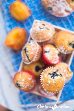 Muffins aux nectarines et aux myrtilles - Cuisinons En Couleurs