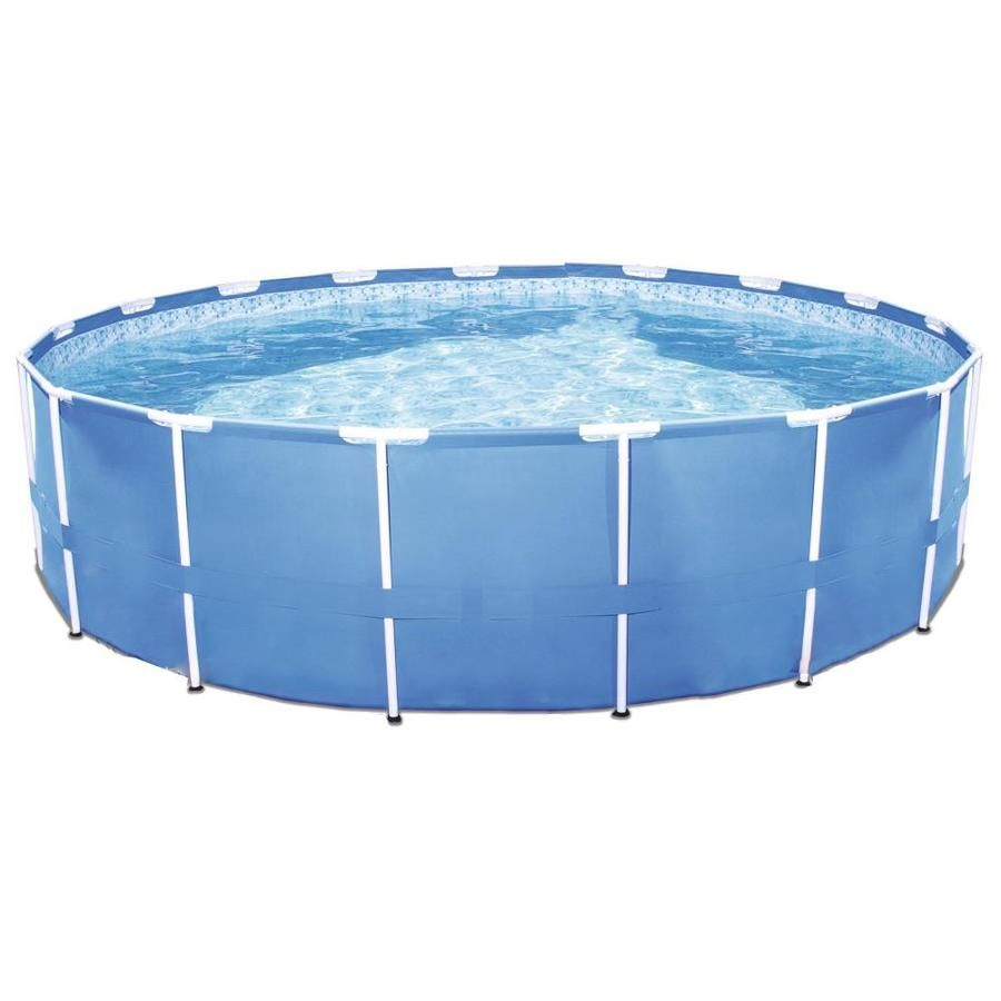 Bestway 12 Ft X 12 Ft X 30 In Round Above Ground Pool Lowes Com In 2020 Above Ground Swimming Pools In Ground Pools Round Above Ground Pool