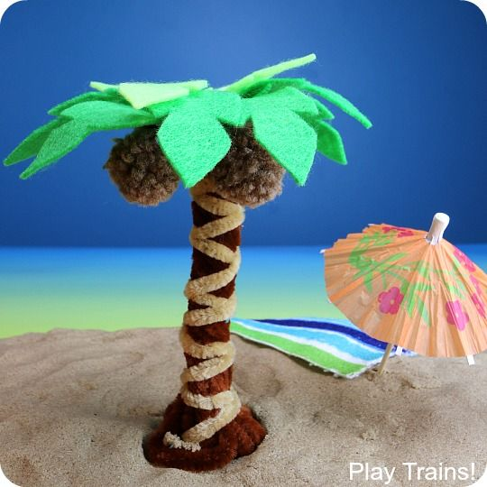 Pipe Cleaner Palm Tree Craft Craft Ideas Palm Tree