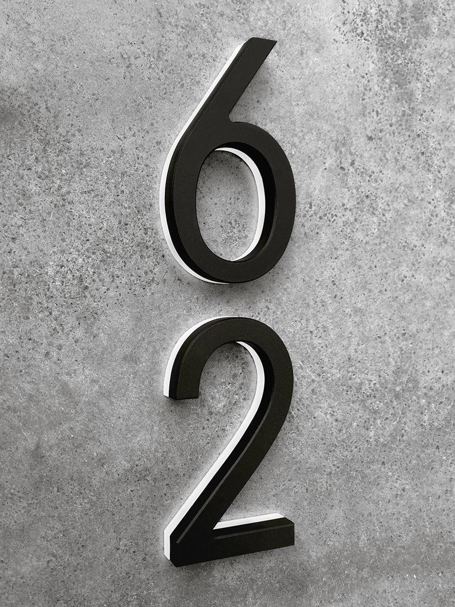 Luxello Modern Black Lighted House Numbers 8 Surrounding Com In 2020 Led House Numbers House Numbers Led House