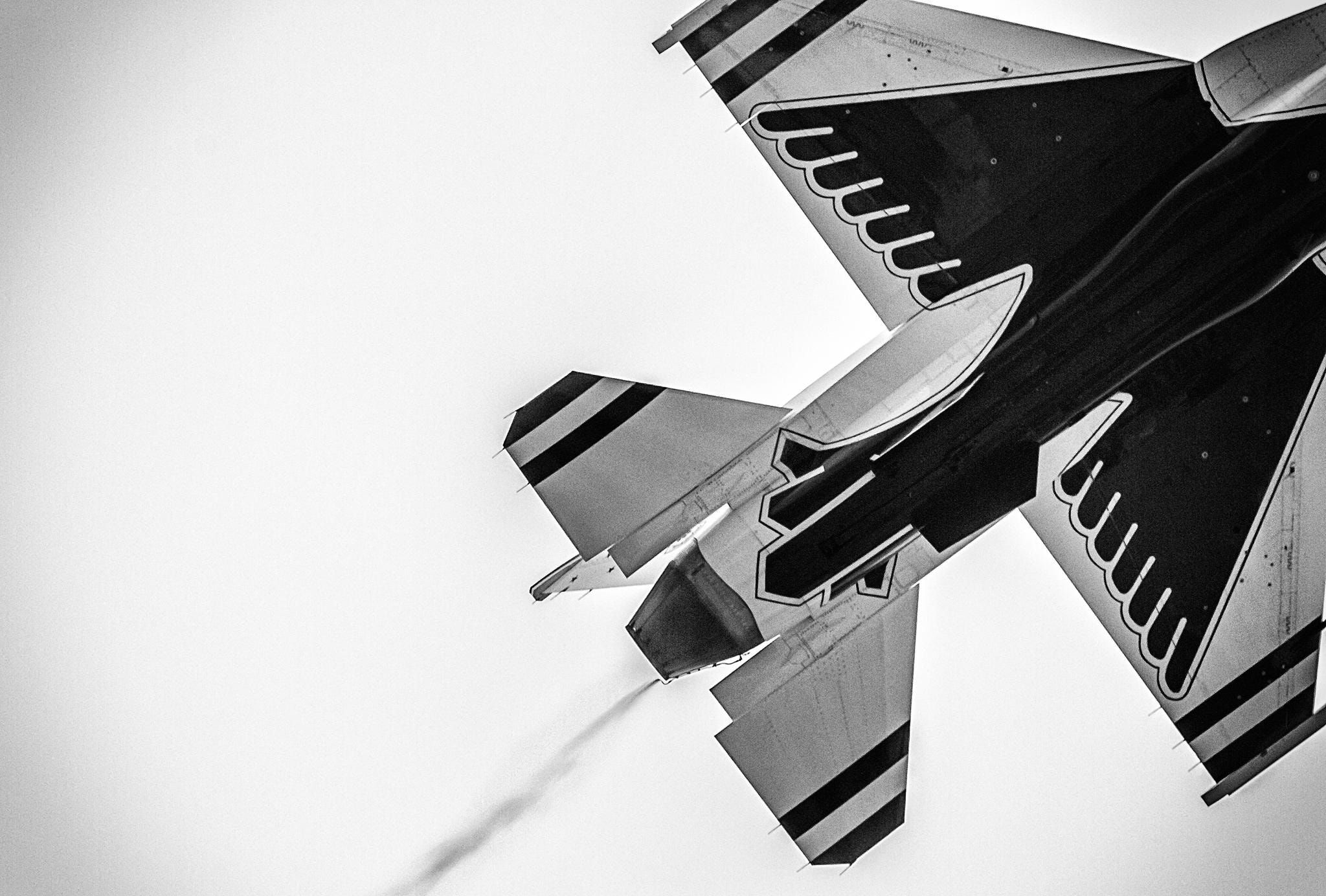 F16+Thundrbird+Black+and+White++F16+US+Air+Force