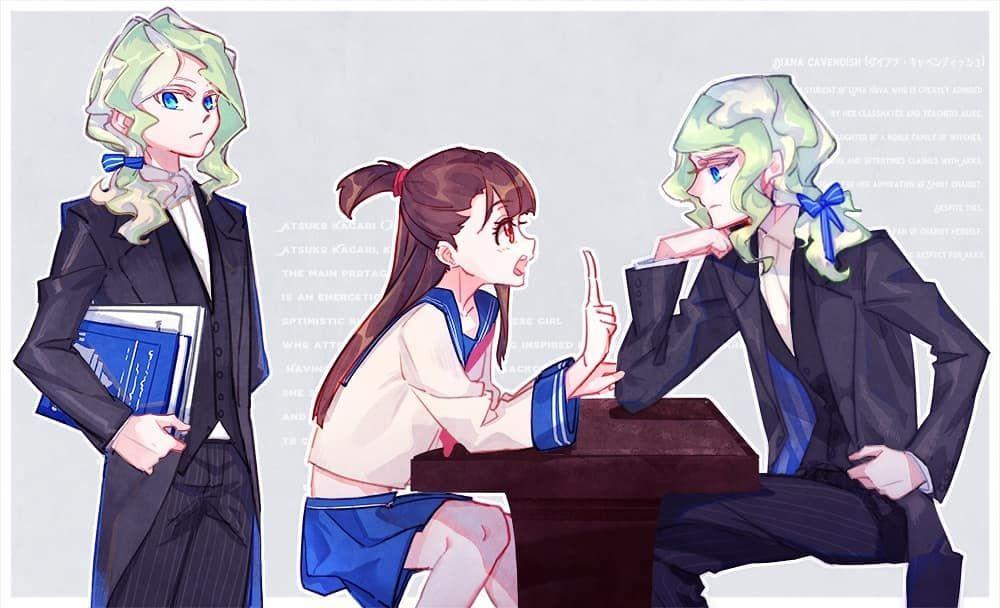 TOMBOY-ISH DIANA MAKES ME GAY ; MilkPuppy77 on twitter #lwa  #littlewitchacademia #anime #manga #gay #ship #otp #lgbt #couple #lesbians  #girls ...