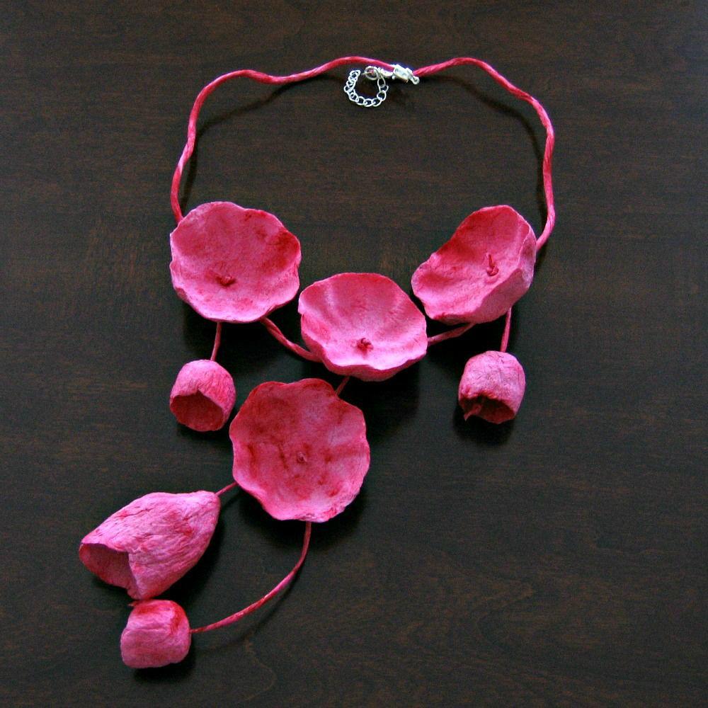 This Amazing Papier Mache Necklace From My Blog Sponsor Alessandra Fabre Repetto Of Etsy Shop Eco Wedding Design Arrived To Brighte Idee Gioiello Gioielli Idee