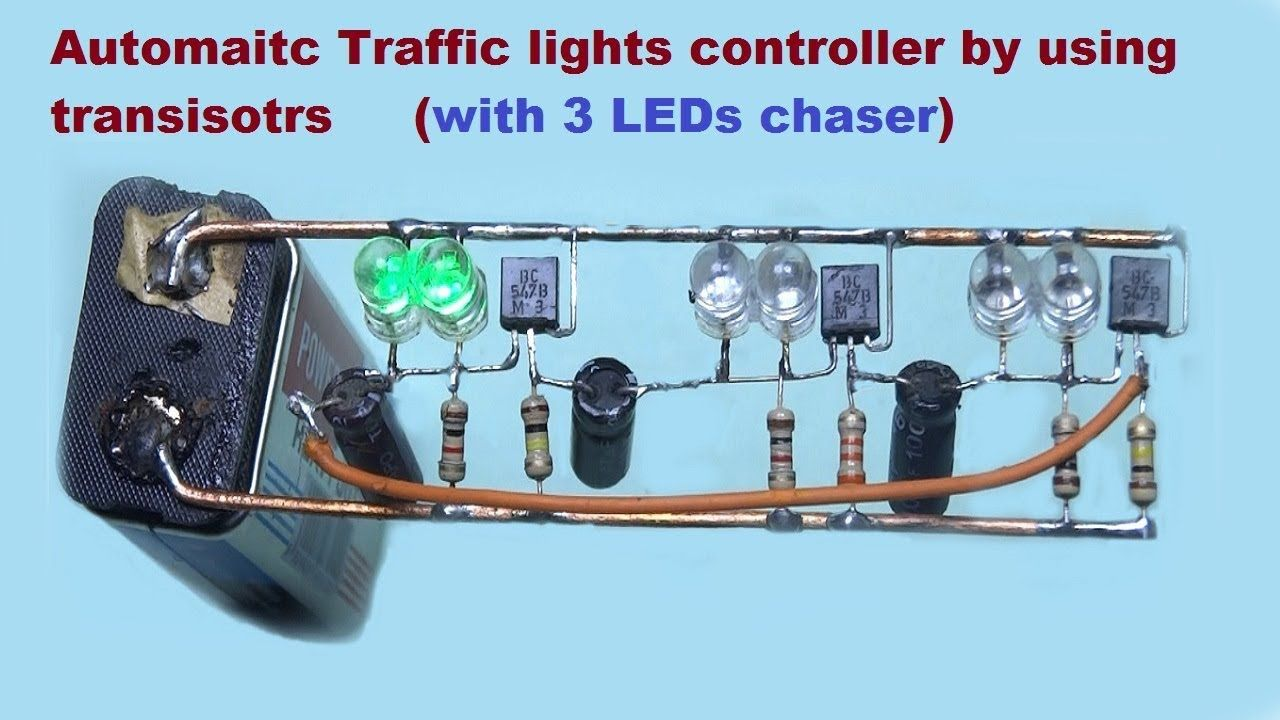 Traffic Lights Automatic Controller With Transistors Traffic Light Circuit Diagram Traffic