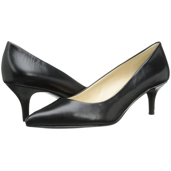 Heels, Kitten heel shoes, Black slip on