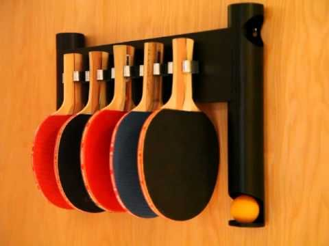 Pongon Wall Mount Table Tennis Ping Pong Paddle And Ball Holder Store Your 40mm Balls Hang Up To 5 Table Tennis Room Ping Pong Room Outdoor Ping Pong Table