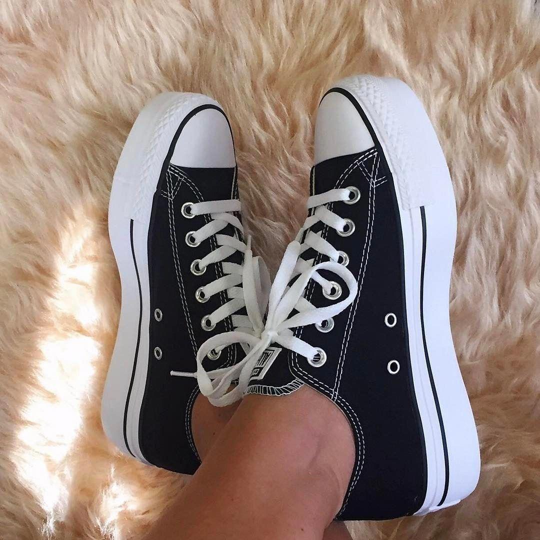 platform black and white converse