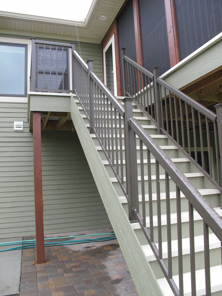 Deck Railing Maintenance Free With Powder Coated Finish Is Also Aesthetically Ealing Bayer Built Woodworks