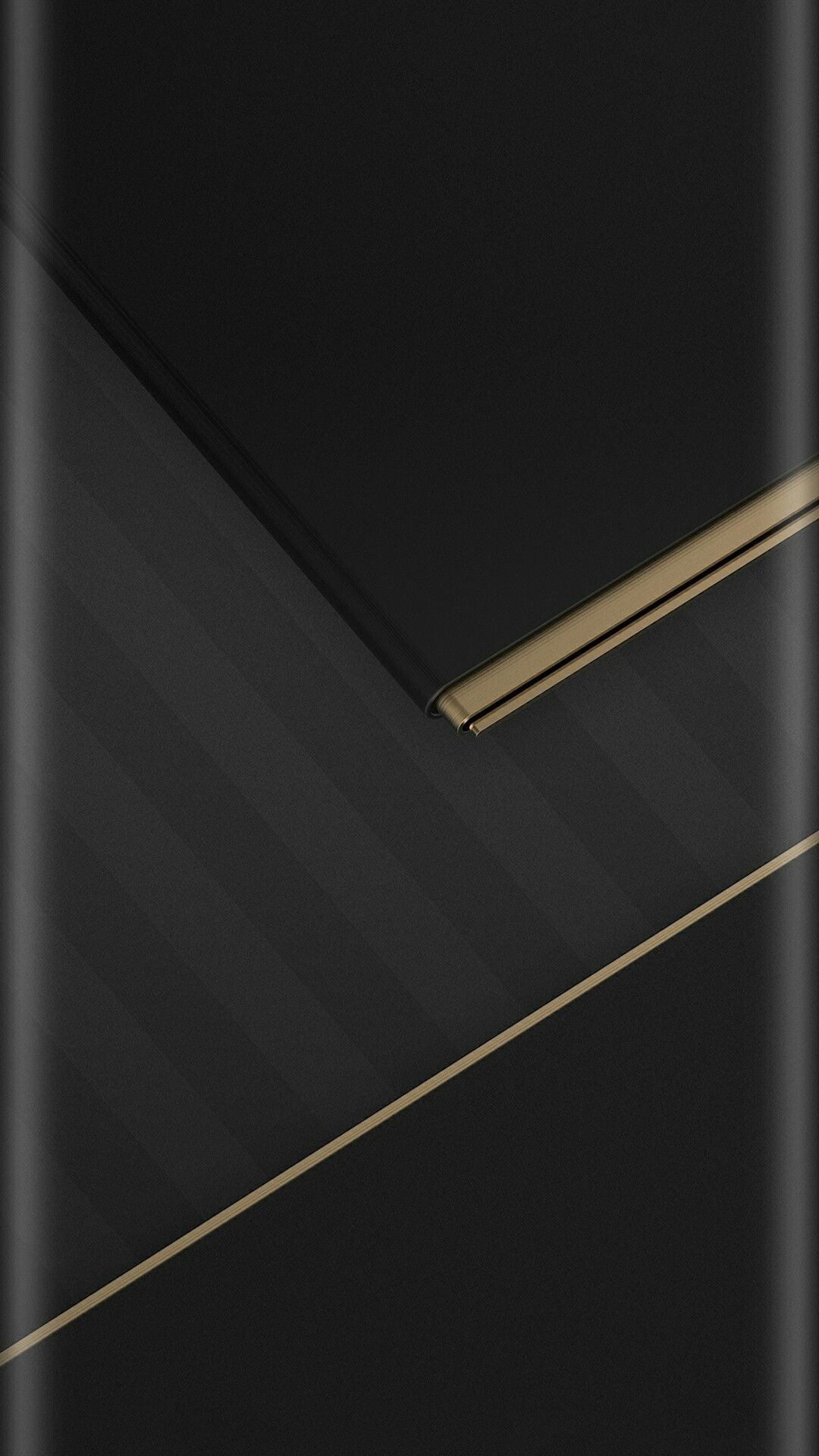 Grey Stripes Black and Gold Wallpaper Kertas dinding