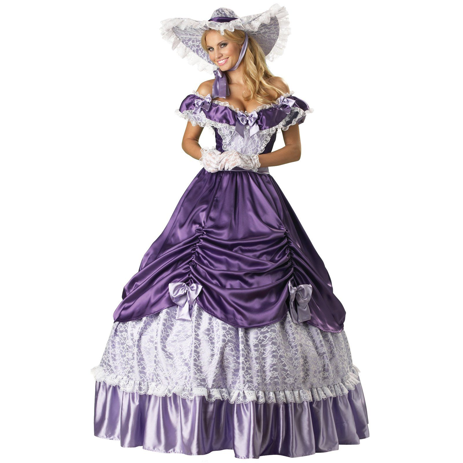 Dresses Loose On Sale At Reasonable Prices Buy New Southern Belle Costume Adult Victorian Dress Costumes For Women Purple Civil War Gowns