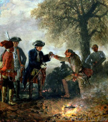 Fine Art Reproduction Frederick The Great 1744 97 With Zieten At