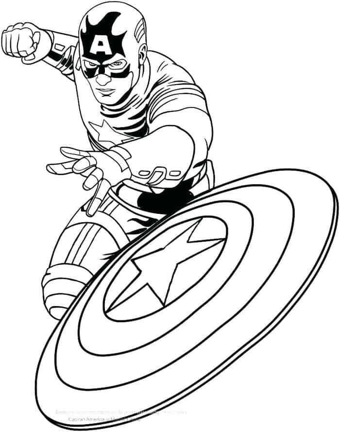 Captain America The First Avenger Coloring Pages, 2020