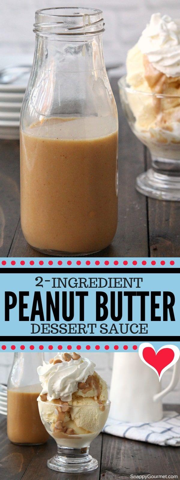 Homemade Peanut Butter Sauce for Ice Cream #cheesecakeicecream