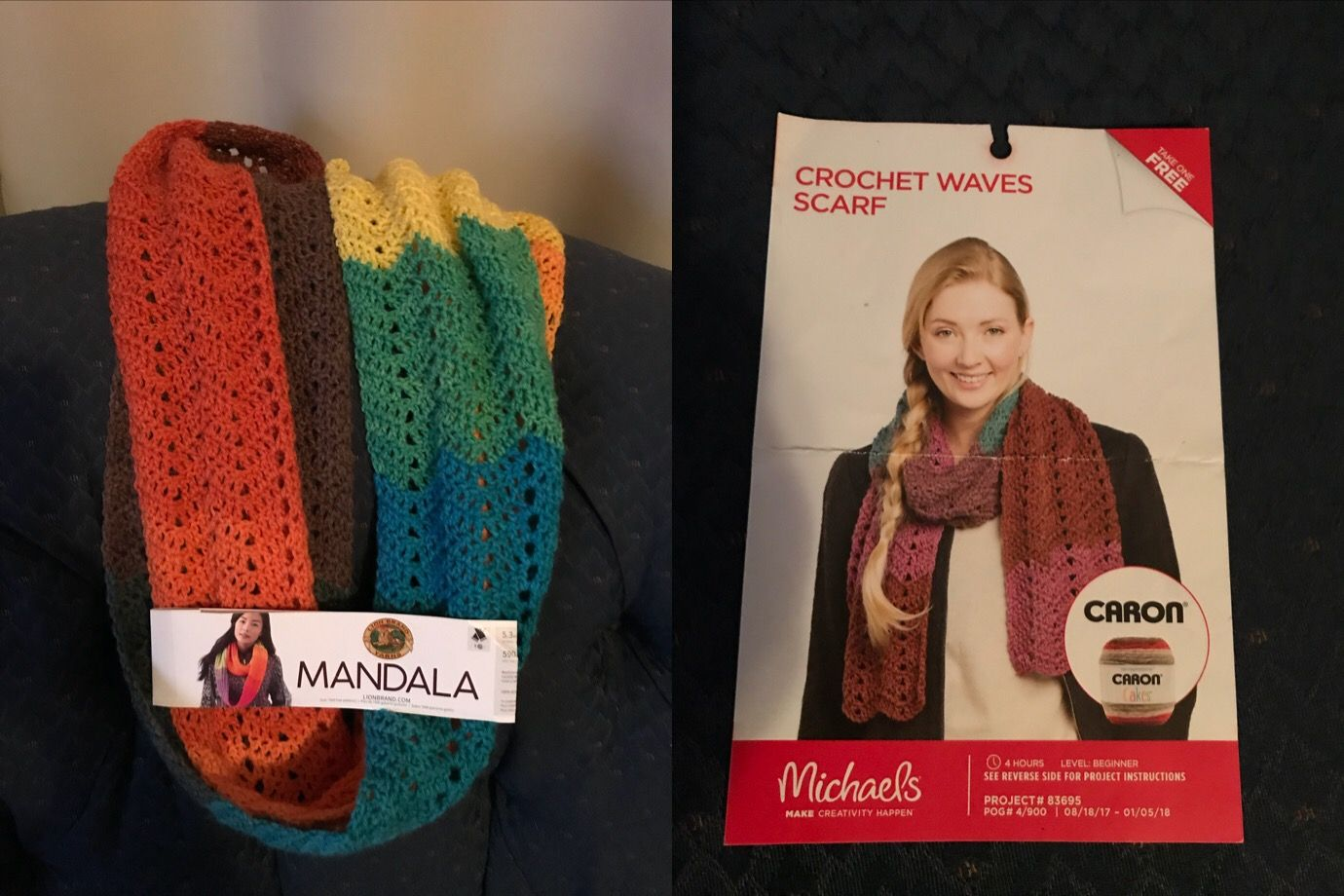 Free pattern at Michaels and used Lion brand Mandala yarn in ...